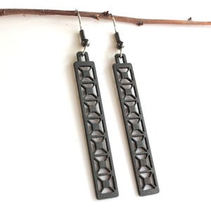 Image of Steel Town Long X Earrings