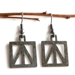 Image of Steel Town Square Brace Earrings
