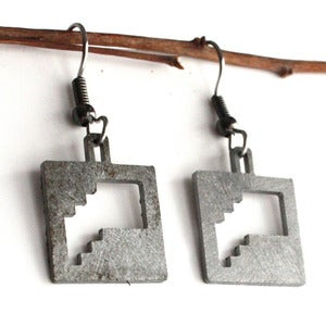 Image of Square Balcony Earrings
