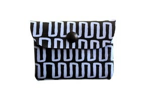 Image of Card Holder- Black Leather with Lavender Heatbeat