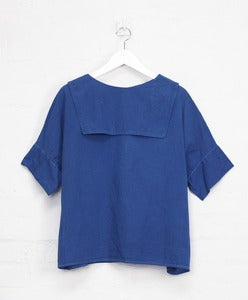 Image of Organic Indigo 'Backwards' Sailor Top