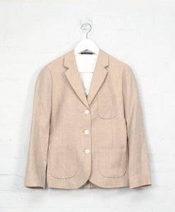 Image of Wool/Linen Tailored Jacket