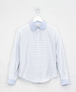 Image of Striped Cotton Cleric Shirt