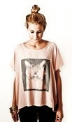 Image of Cat | Loose Tee | Light Pink