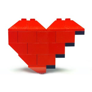 Image of ♥ Original Broken Hearts of Bricks Brooch