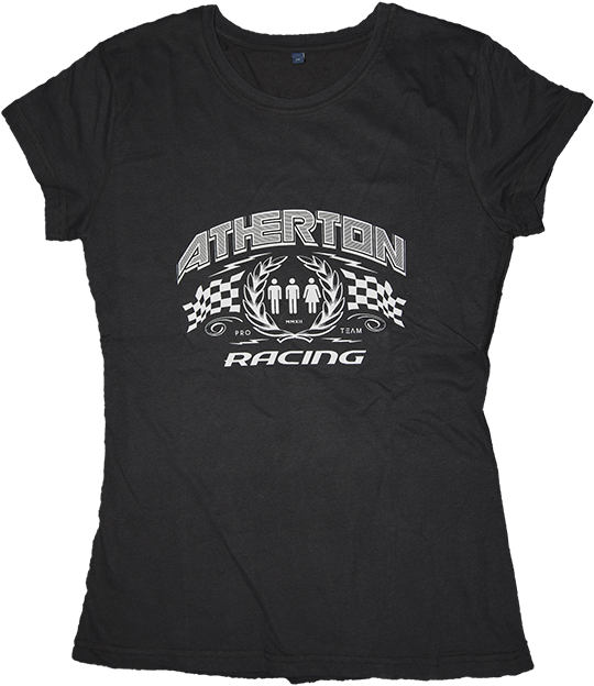 Image of Atherton Racing 'Women's Winners Laurels' T-shirt - Black