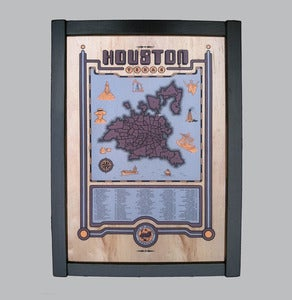 Image of houston map framed