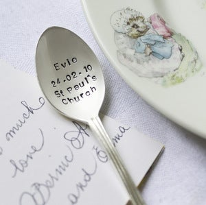 Image of Personalised Christening Teaspoon
