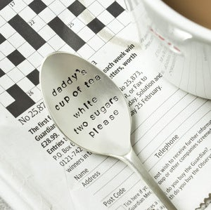 Image of Personalised Daddy's Cuppa Large Tea Spoon