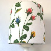 Image of Rosebud Vintage barkcloth 20cm lampshade