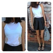 Image of Space Mesh White Top