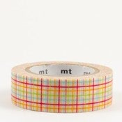 Image of Rainbow Grid Washi Tape