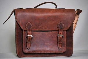 Image of Leather Brief Case (with Pocket) *More Colors Available