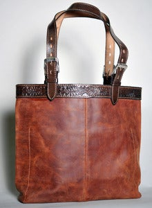Image of Women's Western Leather Tote *More Colors Available