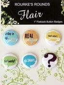 "Image of Life Words Flair - 6 x 1"" Flatback Badges / Buttons - Rourke's Rounds"