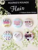 "Image of Sweet Story Flair - 6 x 1"" Flatback Buttons / badges - Rourke's Rounds"