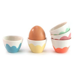 Image of Daisy set of 5 egg cups
