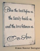 "Image of Handpainted Canvas ""Bless the Food"" 16x20"