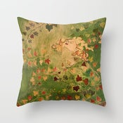 Image of Ivy Lady Designer Fabric Throw Pillow