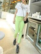 Image of Neon Yellow Skiny Jeans