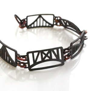 Image of Steel Town Rectangular Bridge Bracelet