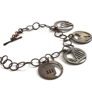 Image of Open &amp; Airy Charm Bracelet