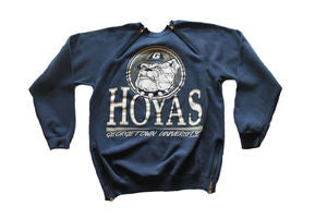 Image of Men's D.Fame Custom &quot;Georgetown Hoyas&quot; Crewneck