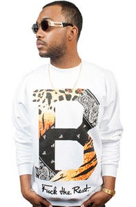 Image of Tiger Paisley Crew White