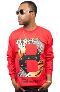 Image of Tiger Paisley Crew RED