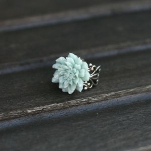 Image of Vintage Dahlia Adjustable Rings - 7 Colors (BLUE IS BACK!)