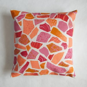 Image of Terrazzo print cushion - pinks