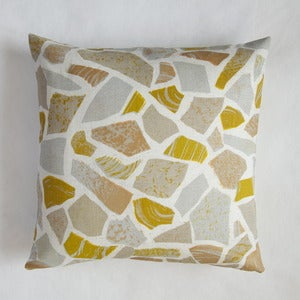 Image of Terrazzo print cushion - stone