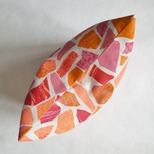 Image of Terrazzo print cushion- pinks