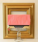 Image of foldover clutch - gold rush