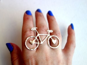 Image of Bike Ring with Hearts