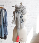 Image of Navy Poetry Scarf