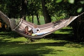 Image of AMAZONAS Palacio cafe double XXL Brazilian hammock with spreader bars