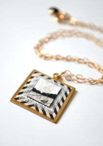 "Image of ""Loretta"" Fine Art Collage Necklace"