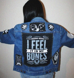 Image of SICK X YOUNG GUNS 'FEELS' denim jacket MEDIUM