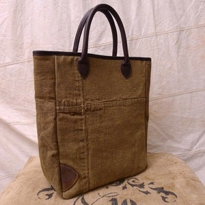 Image of Reclaimed Tent Canvas Rope Handle Tote