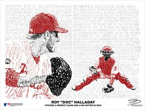 "Image of Roy ""Doc"" Halladay Pitched a Perfect Game and No-Hitter in 2010 Poster"