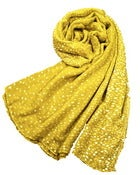 Image of Polka Dot Scarf -Chartreuse