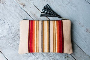 Image of Harlow Clutch in Sterling Stripe