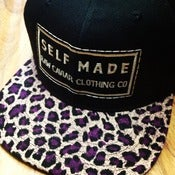 Image of Purple and Gold Raw Caviar Cheetah Snapback New*