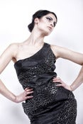 Image of Sparkle Paneled Dress with side Pocket