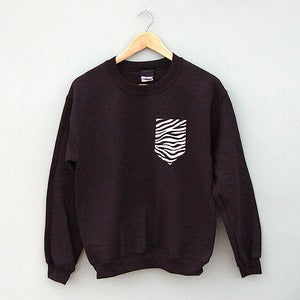 Image of Zebra Pocket Sweatshirt by Patch Apparel 