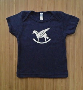 Image of NAVY ROCKING HORSE TEE