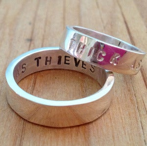 Image of thick as thieves - friendship, promise or wedding bands