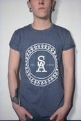 Image of Crest Tee Heather Navy - Men's