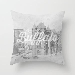Image of &lt;b&gt;Long Live Buffalo&lt;/b&gt;&lt;br&gt;Church &amp; Main&lt;br&gt;Throw Pillow